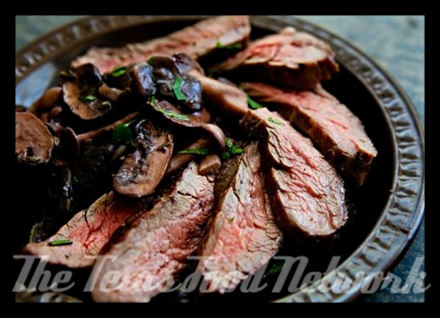 GrilledFlankSteakWithMushrooms