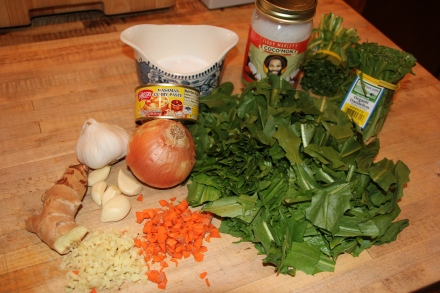 Coconut Curry Dandelion Greens Recipe