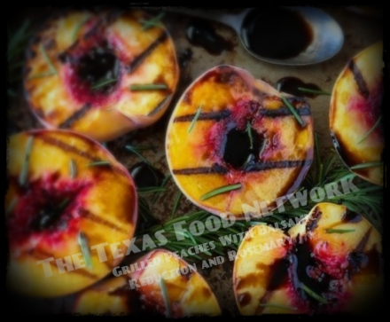 Grilled Balsamic Rosemary Peaches