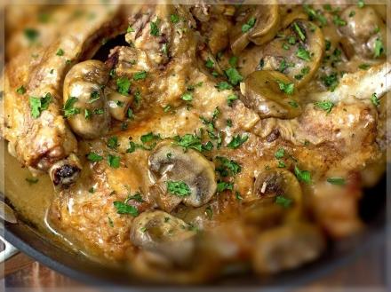 mushroom-pork-chops